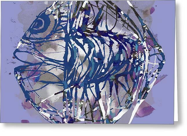 Pop Art Fish Poster Greeting Card by Kim Wang