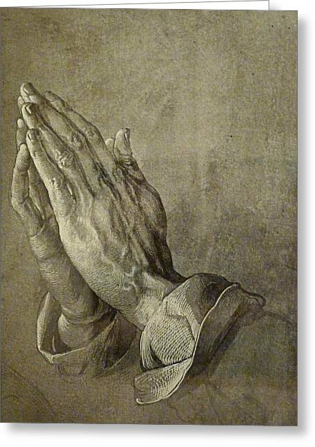 Praying Hands Greeting Card