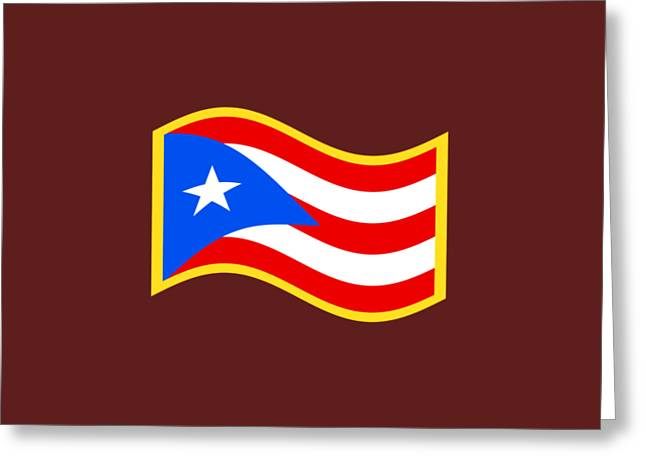 Puerto Rico Flag Greeting Card by Frederick Holiday