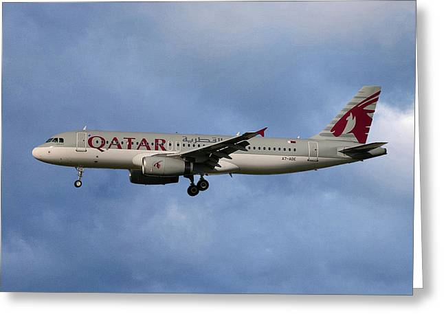 Qatar Airways Airbus A320-232 Greeting Card