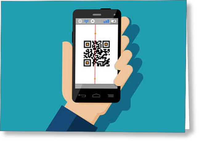 Qr Code Reader Greeting Card by Smart Tool World