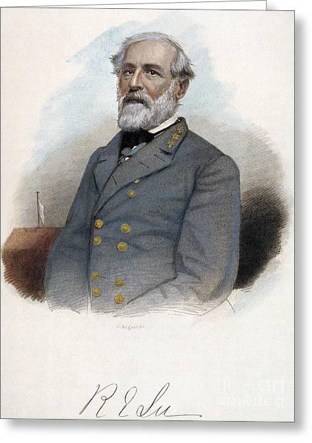 Robert E. Lee (1807-1870) Greeting Card by Granger