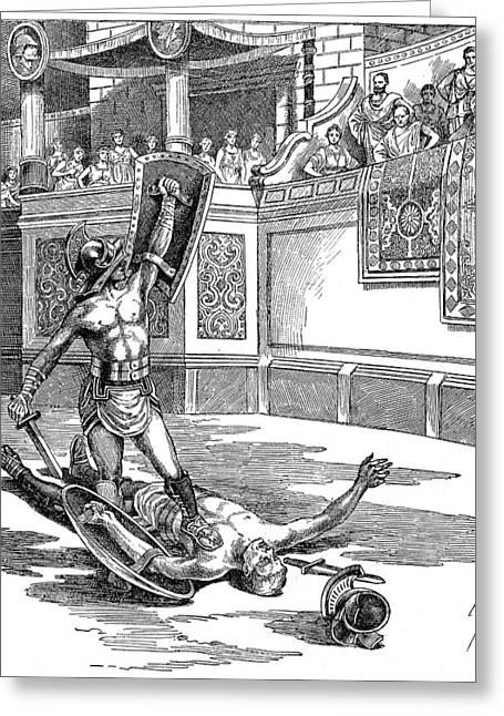 Roman Gladiators Greeting Card by Granger