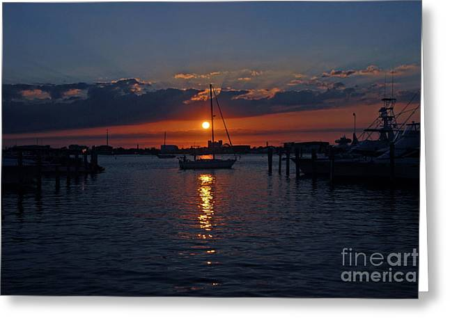 5- Sailfish Marina Sunset In Paradise Greeting Card