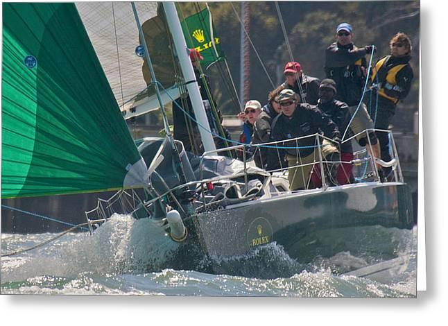 San Francisco Sailboat Racing Greeting Card