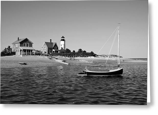 Greeting Card featuring the photograph Sandy Neck Lighthouse by Charles Harden