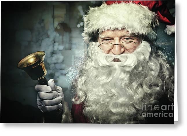 Santa Claus Portrait Greeting Card by Gualtiero Boffi