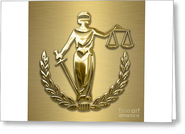 Scales Of Justice Collection Greeting Card