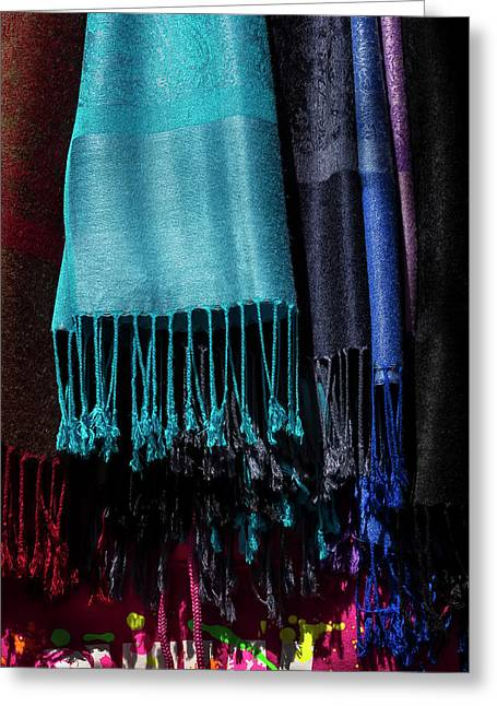 Scarves Greeting Card by Robert Ullmann