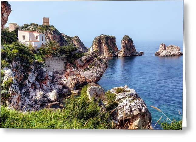Scopello - Sicily Greeting Card by Joana Kruse