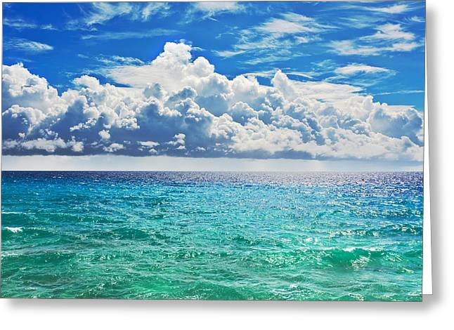 Beach Scenery Greeting Cards - Sea Greeting Card by MotHaiBaPhoto Prints