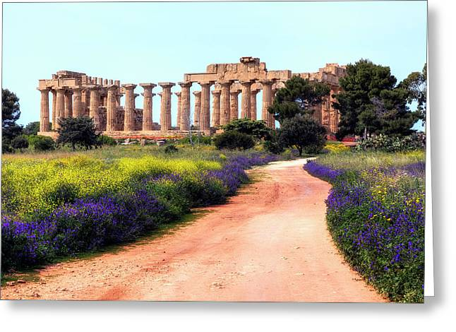 Selinunte - Sicily Greeting Card by Joana Kruse
