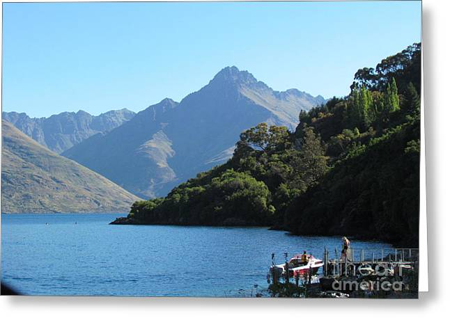 South Island New Zealand Greeting Card by Joyce Woodhouse