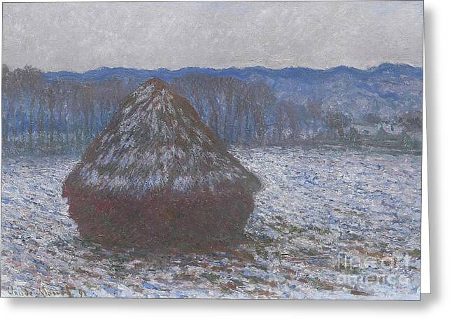 Stack Of Wheat Greeting Card by Claude Monet