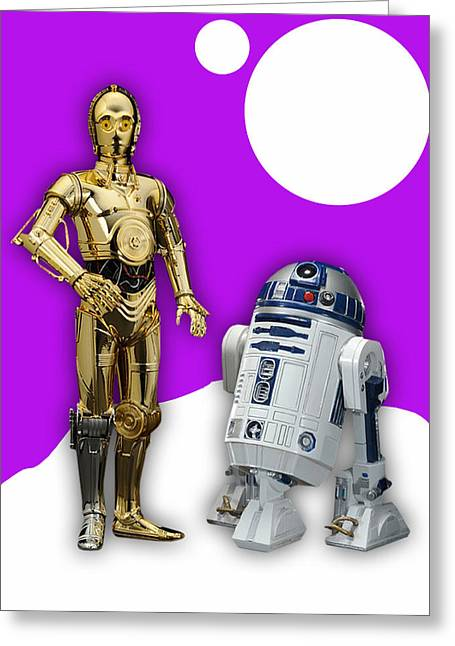 Star Wars C3po And R2d2 Collection Greeting Card by Marvin Blaine