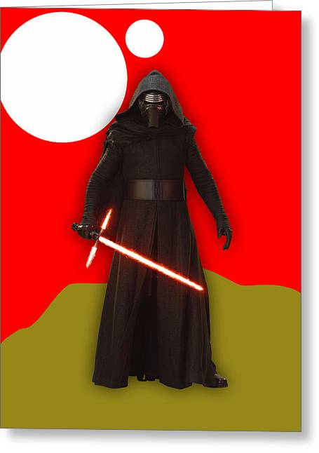 Star Wars Kylo Ren Collection Greeting Card by Marvin Blaine