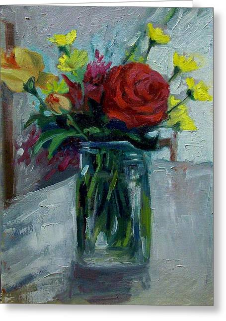 Still Life Greeting Card by George Siaba