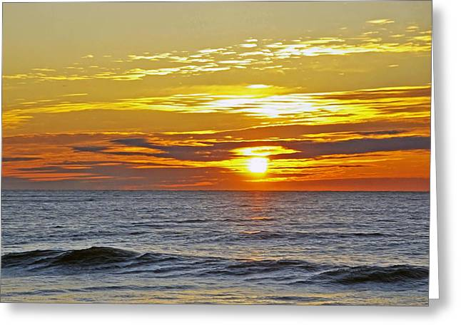 Sunrise Greeting Card by Gregory Letts