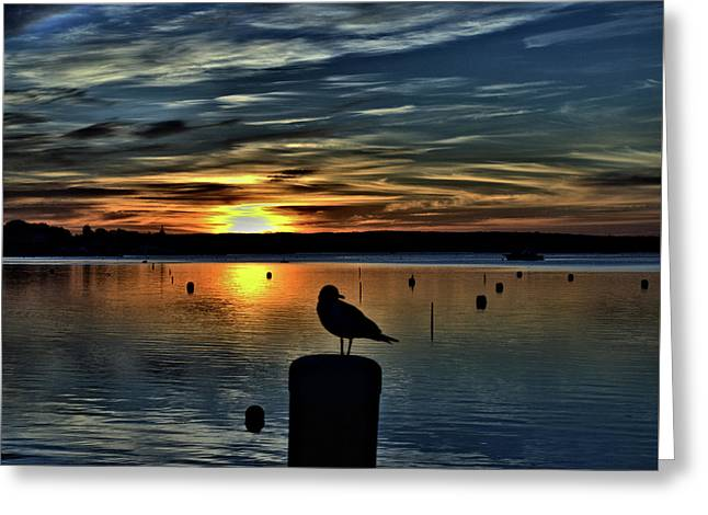 Sunrise Onset Pier Greeting Card
