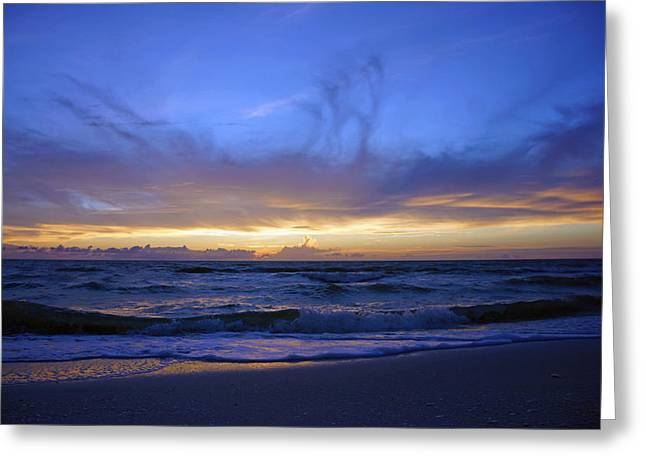 Sunset At Delnor Wiggins Pass State Park Greeting Card by Robb Stan