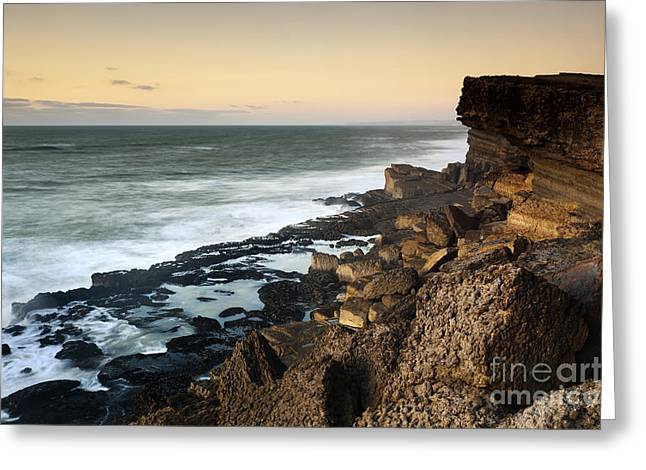 Sunset In The Portuguese Coast Greeting Card by Andre Goncalves