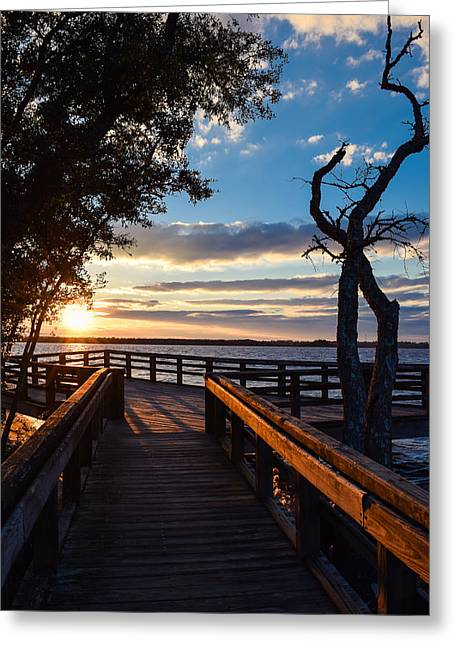 Greeting Card featuring the photograph Sunset On The Cape Fear River by Willard Killough III