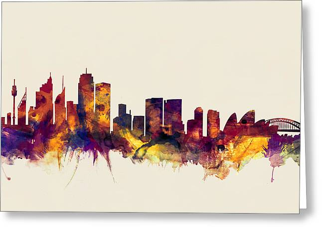 Sydney Australia Skyline Greeting Card