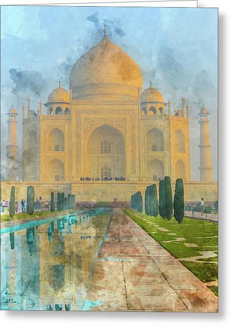 Taj Mahal In Agra India Greeting Card