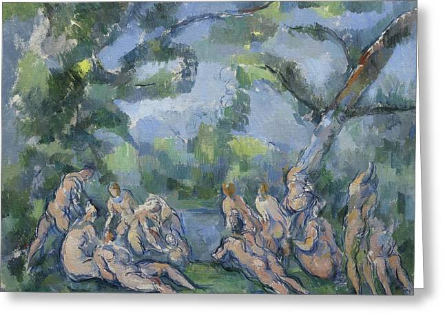 The Bathers Greeting Card by Paul Cezanne