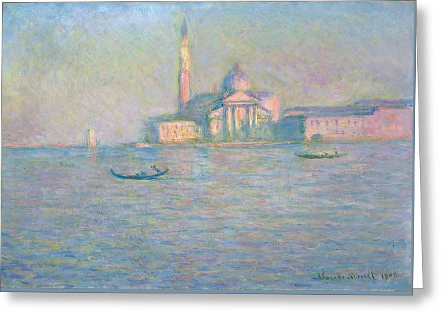 The Church Of San Giorgio Maggiore, Venice Greeting Card by Claude Monet