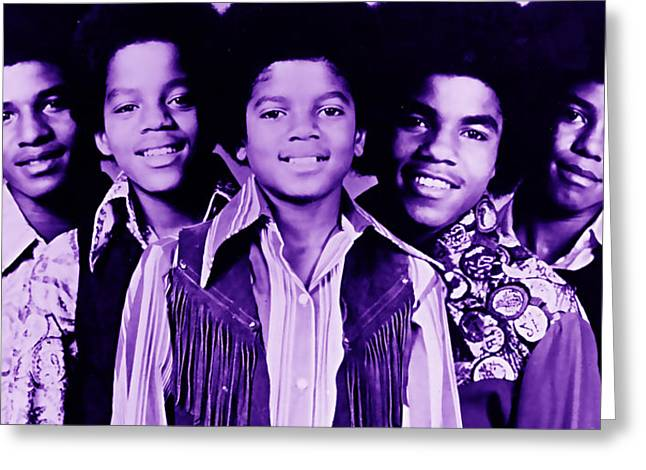 The Jackson 5 Collection Greeting Card by Marvin Blaine
