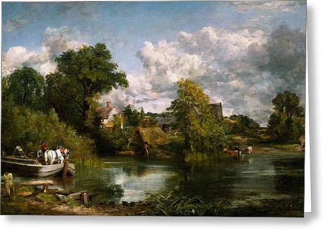 The White Horse Greeting Card by John Constable