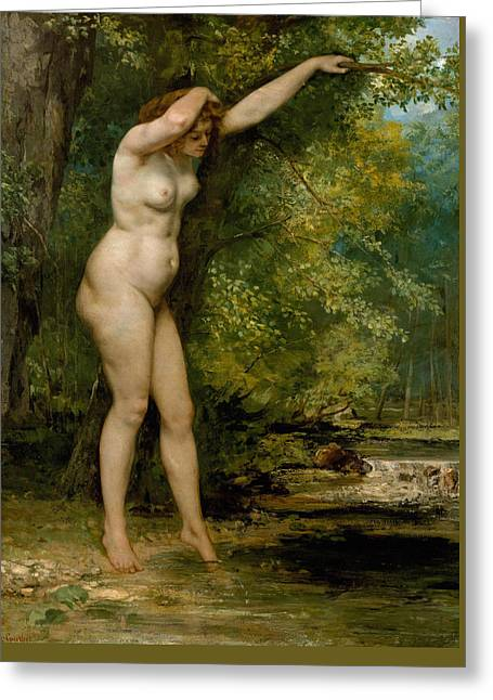 The Young Bather Greeting Card