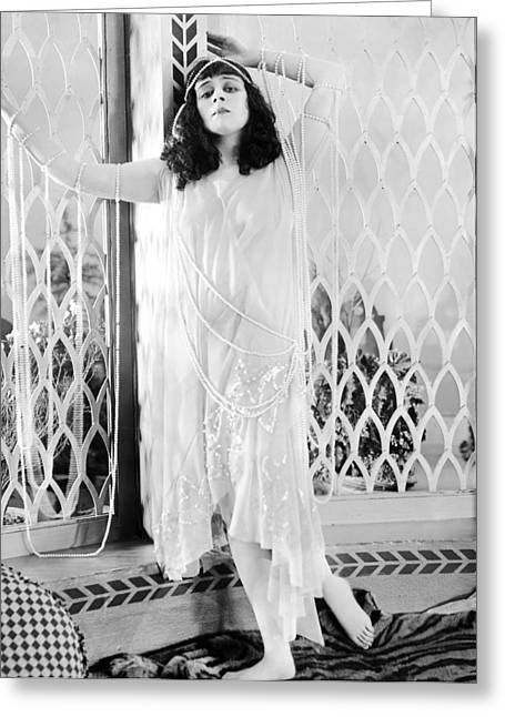 Salome Greeting Cards - Theda Bara (1885-1955) Greeting Card by Granger