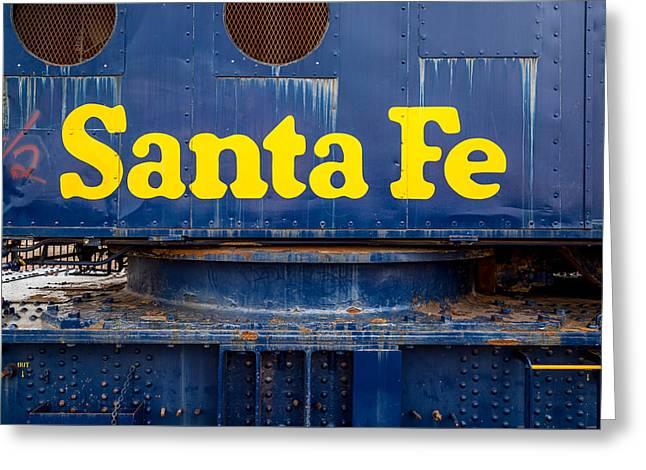 Trains Greeting Card by Jon Manjeot