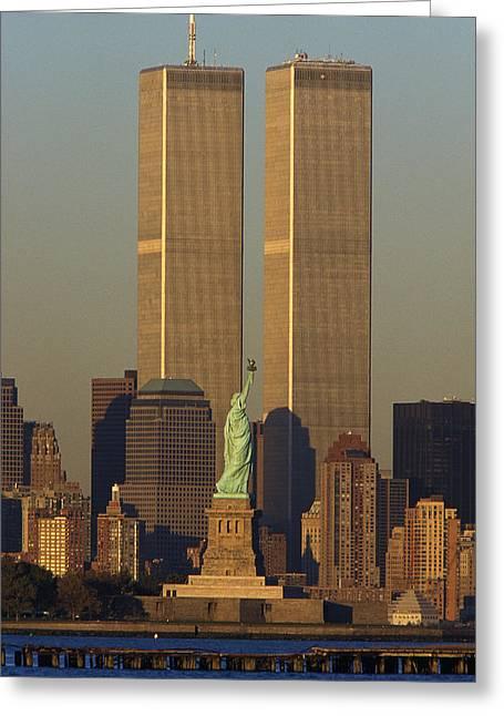 Usa, New York, Statue Of Liberty Greeting Card