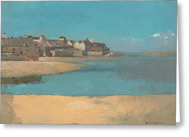 Village By The Sea In Brittany Greeting Card