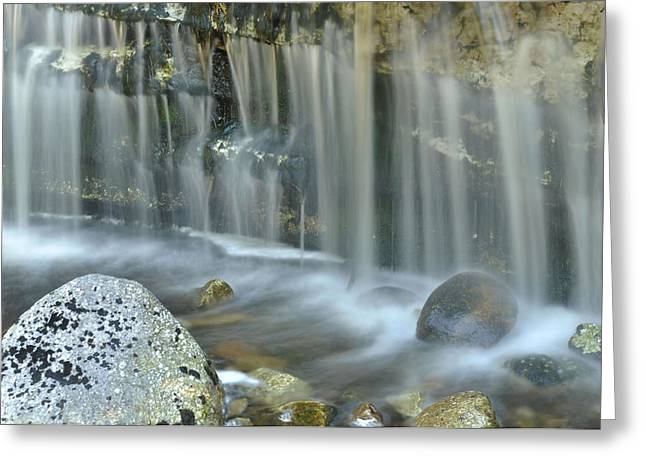 Waterfall Detail Greeting Card by Stephen  Vecchiotti