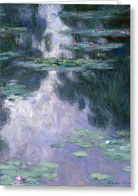 Vines Greeting Cards - Waterlilies Greeting Card by Claude Monet