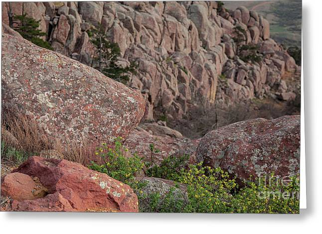 Greeting Card featuring the photograph Wichita Mountains by Iris Greenwell