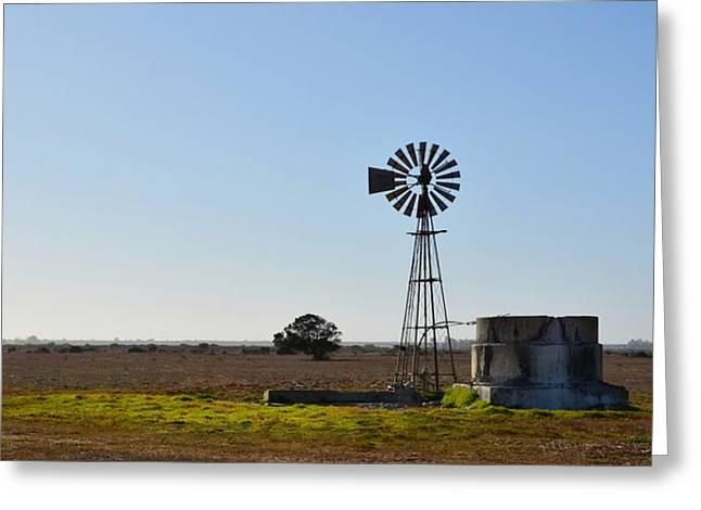 Windmill Greeting Card by Werner Lehmann