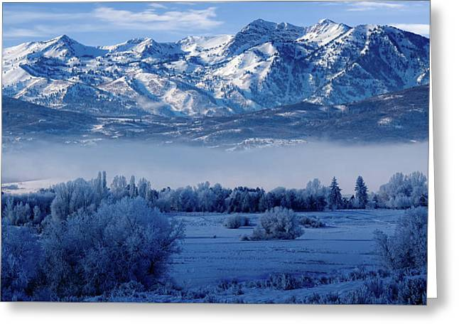 Winter In The Wasatch Mountains Of Northern Utah Greeting Card