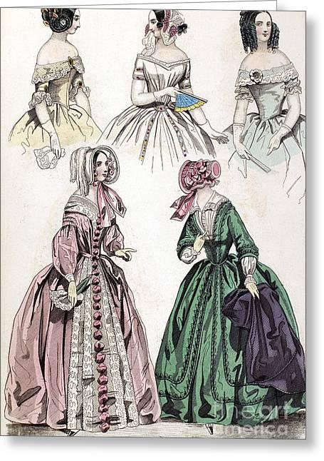 Womens Fashion, 1842 Greeting Card