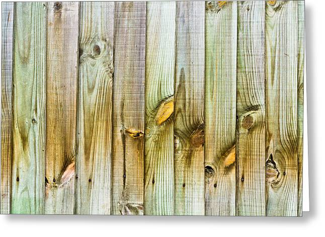 Wooden Fence Greeting Card by Tom Gowanlock