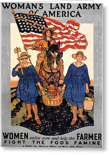 Servicewoman Greeting Cards - World War I: U.s. Poster Greeting Card by Granger