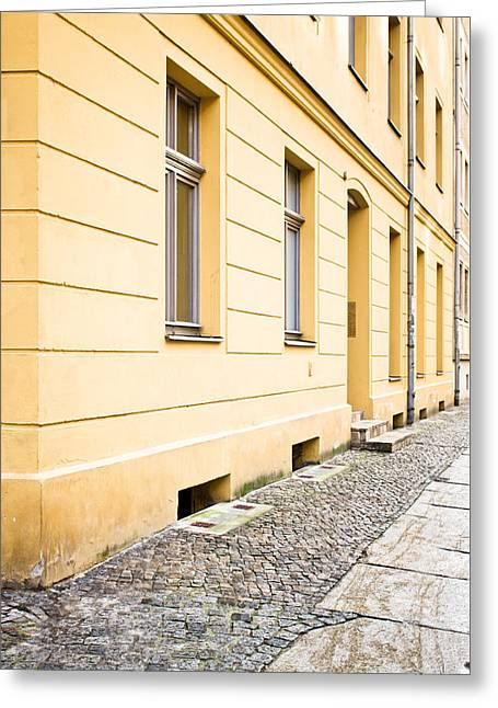 Yellow Building Greeting Card
