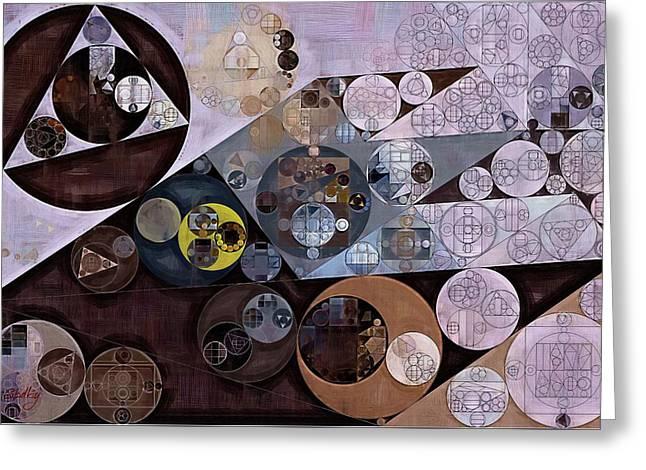 Greeting Card featuring the digital art Abstract Painting - Zinnwaldite Brown by Vitaliy Gladkiy