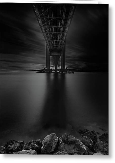 Greeting Card featuring the photograph 50 Shades Of Verrazano by Edgars Erglis