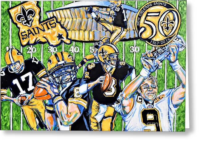 50 Years Of Saints Greeting Card by Tami Curtis