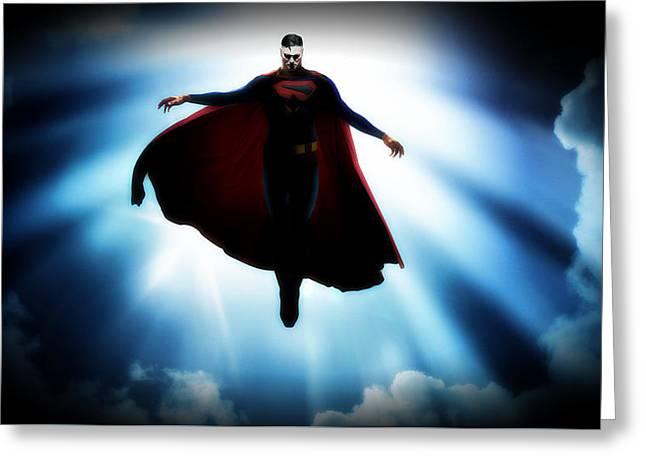 50399 Comics Dc Comics Superman Greeting Card